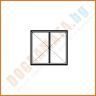 Двоен прозорец с две отваряеми