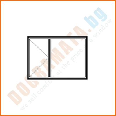 Кухненски прозорец с едно отваряемо