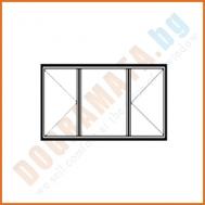 Троен прозорец с две отваряеми