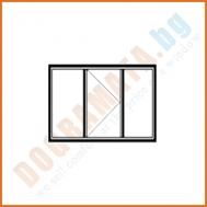 Троен прозорец с едно крило