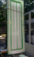 врата за баня алуминиева зелена